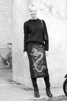 Sasha Luss during Paris Fashion Week Fall/Winter 2014.