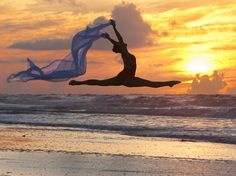 I like how she's parallel with the horizon.  Richard Calmes photography