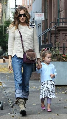 Sarah Jessica Parker Boyfriend Jeans - Sarah Jessica Parker Looks - StyleBistro