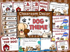 Interesting in decorating your classroom with a theme?  Read this blog post for ideas on a variety of themes including dogs.  This blog post is something to BARK about!