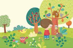 J'fais pipi sur l'Gazon Illustration Mignonne, Children's Book Illustration, Animal Illustrations, Art Drawings For Kids, Cool Drawings, Kids Art Class, Art For Kids, Camping Crafts For Kids, Art Assignments