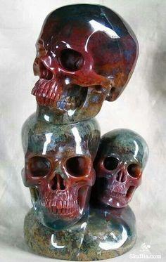 Beautiful carved skulls!
