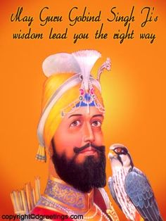 Dgreetings - Celebrate the bright Guru Gobind day with this card.