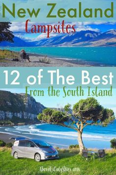 Exploring the South Island by road? Looking for somewhere to pitch your tent or park your campervan? Here are 12 hand-picked New Zealand campsites with views to die for New Zealand Itinerary, New Zealand Travel Guide, Nz South Island, New Zealand South Island, Travel Advice, Travel Guides, Travel Tips, Rv Travel, Travel Europe