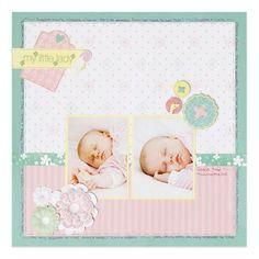 Fabulous Baby Girl Scrapbook Layout