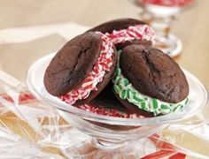 Peppermint Whoopie Pies, I wonder if these are as good as Pumpkin ones?