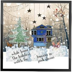 Christmas  Whimsy Digital Art Collage Card by HemeonArtworks, $7.00
