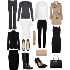 Capsule Wardrobe by lisapril on Polyvore featuring STELLA McCARTNEY, Harrods, Sundry, Reiss, Burberry, Theyskens' Theory, 7 For All Mankind, Ralph Lauren Black Label, DKNY and Sergio Rossi #businesstravelaccessories
