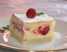 magic cake with vanilla & raspberry Dessert Thermomix, Vanilla Cake, Baked Goods, Raspberry, Cheesecake, Food And Drink, Cooking Recipes, Pudding, Baking