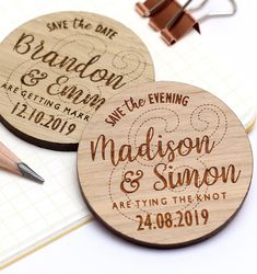 Save The Date Magnet, Rustic Wooden Save the Date, Rustic Wedding Save the Date Personalised Wedding Invite, Custom Wedding Magnet Save The Date Magnets, Save The Date Cards, Personalised Wedding Invitations, Personalized Wedding, Ampersand Wedding, Rustic Wedding Save The Dates, My Perfect Wedding, Wooden Hearts, Dating