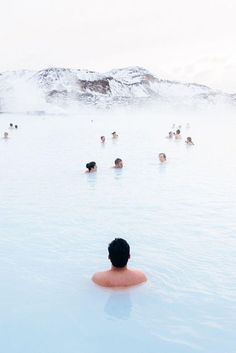 Blue Lagoon hot springs in Iceland