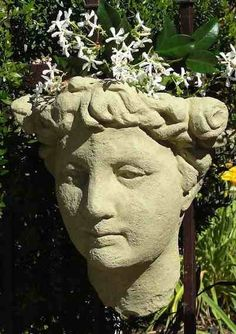 Lady Head Wall Planter Gives Your Favorite Plants Fantastic Old World  Character. The Newest Piece