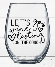Liberty & Lilac Paper Co. Wine Tasting on the Couch Stemless Wine Glass | zulily