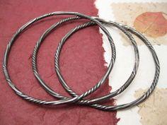 Ritorto  rigid iron bracelet bangle with round by daganigioielli, $39.20