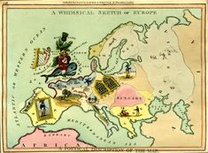 A Whimsical Sketch of Europe Historiana, British Museum
