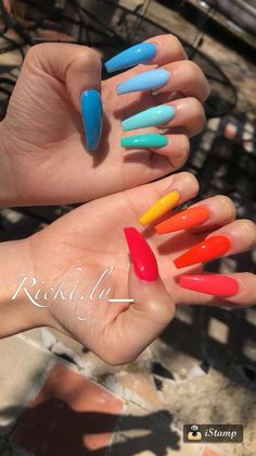 There are three kinds of fake nails which all come from the family of plastics. Acrylic nails are a liquid and powder mix. They are mixed in front of you and then they are brushed onto your nails and shaped. These nails are air dried. Cute Nails, Pretty Nails, My Nails, Nails On Fleek, Best Acrylic Nails, Acrylic Nail Designs, Acrylic Nail Art, Coffin Nail Designs, Acrylic Summer Nails Coffin