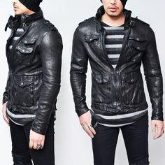 Crinkle Black Lambskin Urban Hunter-Leather 104 - GUYLOOK