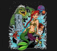 TeeFury t-shirt of the day mashup – Disney's The Little Mermaid meets Star Wars | The Disney Blog