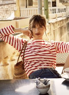 French Ethereal style    red stripes