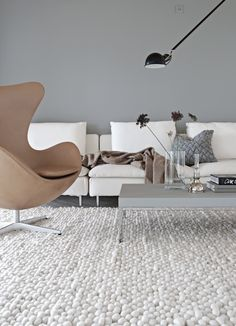 The perfect grey color and the egg chair