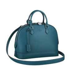Louis Vuitton Parnassea Alma PM M48845 The original size of Alma is perfect to carry every day essentials.It comes with a removable strap for a shoulder or crossbody carry.The distinctive large-grain taurillon bring an evermore timeless elegance.
