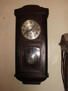 Storage Wall Clock Safe