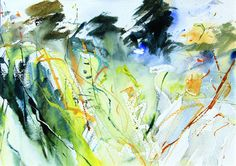 Overgrown Field watercolour by Adrian Homersham http://adrianhomersham.co.uk/