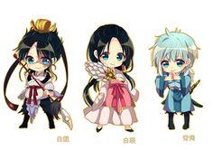 MAGI: The Labyrinth of Magic - Hakuryuu, Hakuei, & Seishun