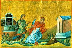 After her parents' death, Holy Martyress Anysia (3rd cent, Thessalonika) gave all to the poor and began a life of fasting and prayer. Emperor Maximian gave a law that anyone could kill Christians without being punished. On her way to church, a pagan soldier asked Anysia to attend a feast to the sun. Though she drew away, he grabbed her and attempted to tear her veil, at which she shoved him and shouted. The soldier killed her with his sword, and the law was criticized. She is remembered Dec…