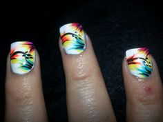 Bright summer time nails!