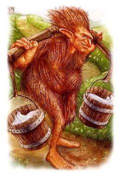 How the grogoch acts in my Faerie. Legends And Myths, Mythological Creatures, Leprechaun, Folklore, Faeries, Elves, Hogwarts, Art Dolls, Mythology