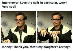 Nice nails johnny Love johnny depp
