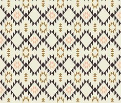 Navajo - Golden Brown Pink - vertical by kimsa, click to purchase fabric