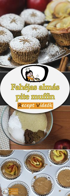 Apple pie muffin recipe with video – make apple pie muffin - Apple Pie Muffins, Hungarian Recipes, Muffin Recipes, Bakery, Food And Drink, Sweets, Cookies, Breakfast, Kitchen Ideas