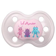 Girl Monster Personalized Pacifier