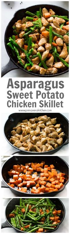 Asparagus Sweet Potato Chicken Skillet | Recipe