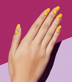 Sunny yellow may not be the first shade you reach for when doing your nails, but a funky negative sp... - Instagram/Paintbox Nails