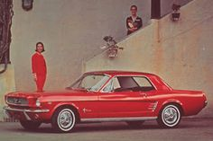 THE Mustang! 1966 Cherry Red. Coolest car of all time! Check out our board for Jiffy Lube Oil Change Coupons!