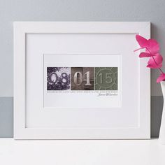 personalised date art print by letterfest | notonthehighstreet.com
