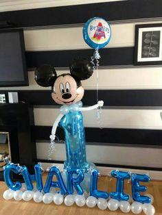 Mickey #theme #balloons #bellissimoballoons Mickey Mouse 1st Birthday, Baby Boy 1st Birthday, Mickey Party, 1st Birthday Parties, Baby Boy Balloons, Number Balloons, Birthday Balloons, Mickey Mouse Decorations, Balloon Decorations