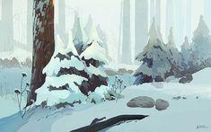 Sublime Landscape Illustrations by Ani Roschier   Abduzeedo Design Inspiration