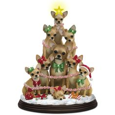 Chihuahua Family Christmas Tree by Mary Badenhop - The Danbury Mint