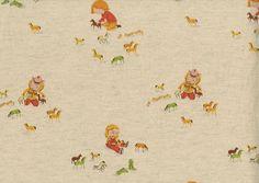 Kokka Fabrics Far Far Away Natural Cowgirls
