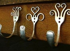 Dishfunctional Designs: Silverware Upcycled  Repurposed: Crafts With Spoons  Forks So cool! Would be cute for scarves