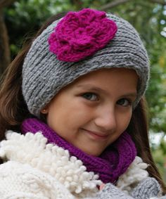 Another great find on #zulily! Gray & Orchid Rosa Cable-Knit Wool Headwarmer by Little Cotton Dress #zulilyfinds