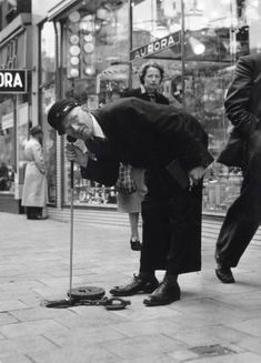 1953. Employee of the Municipal Water Department of Amsterdam searching for leaks in the water pipes. #amsterdam #1953