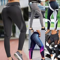 Women Patchwork Elastic Sport Leggings Yoga Pants Fitness Compression Sports Trousers Running Tights Gym Leggings Sport Clothing. . | Free Shipping to United States via USPS | Estimated Delivery Time: 4-7 days . . #legging #leggingsport #fitness #yogapants Sports Trousers, Sport Pants, Gym Leggings, Sports Leggings, Waist Workout, Workout Tops, Running Tights, Running Shorts, Sport Clothing