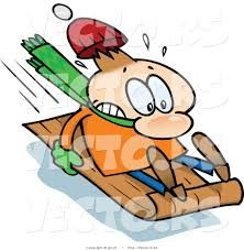 Image result for snowman sledding illustration