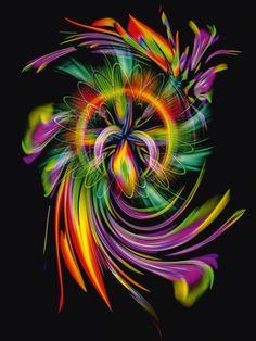 Walter Zettl: Blühende Fantasie 2 - Leinwandbild auf Keilrahmen Leinwandbilder