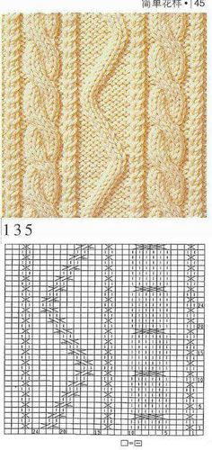 This Pin was discovered by Jes Cable Knitting, Knitting Charts, Sweater Knitting Patterns, Knit Patterns, Knitting Designs, Hand Knitting, Stitch Patterns, Crochet Stitches, Knit Crochet